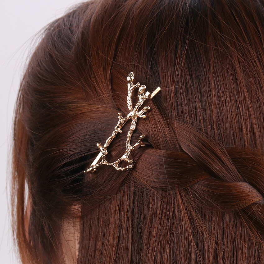 1PC New Korean Gold Silver Tree Branch Hairpin Girl Hair Accessories for Women   Headwear   Pins Hair Accessories Party Jewelry