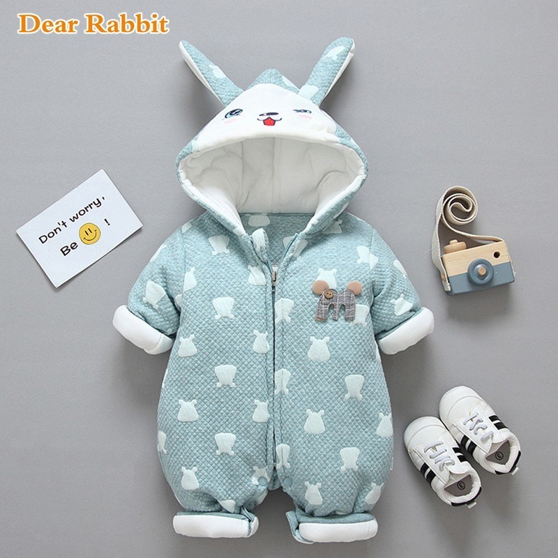 High Quality 2019 New Born Winter Toddler Baby Costume Girl Rompers Warm Baby Boys Cotton Clothes Animal Overall Wear Jumpsuits