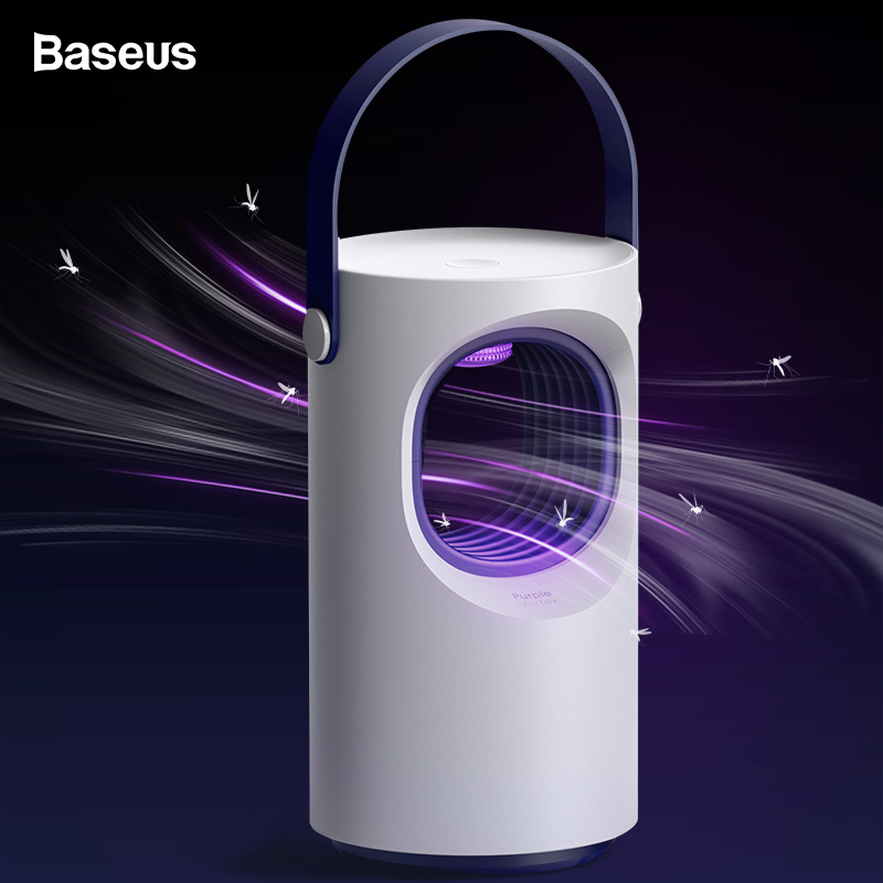 Baseus USB Light Mosquito Killer Lamp Trap LED Electric Trap Lamp Outdoor UV Light Killing Lamp Anti Mosquito Housefly Insect plywood