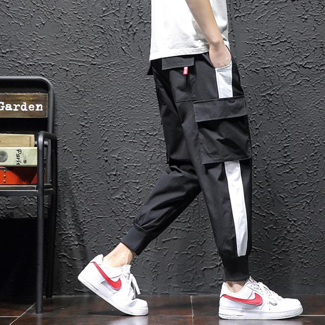 2019 new fashion sportswear pants men's casual pants men's jogging pants striped trousers gym clothing large size 5XL