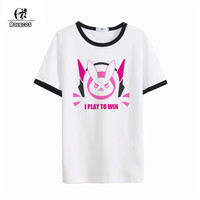 ROLECOS Game PlayWatch Magazine Cover Cosplay Costumes D Va Hana Song Print Short Sleeve T Shirt
