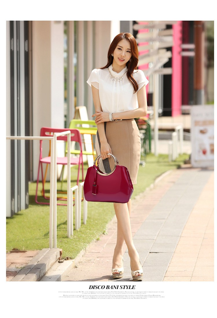 Promotion of new women's bags,Patent Leather Women Bag Ladies Cross Body Shoulder Bags Handbags Blue one size 45