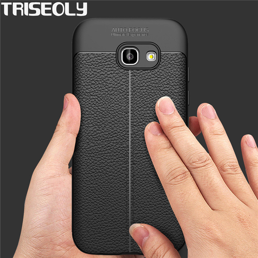 Case For Samsung A7 2017 Simple Luxury Half-Wrapped PU Leather Case Cover For Samsung A7 (2017) A720 A720F