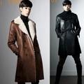 2017 nueva casual marea masculina de Corea personalidad de la moda a largo abrigo de lana zanja masculino foso de la manera