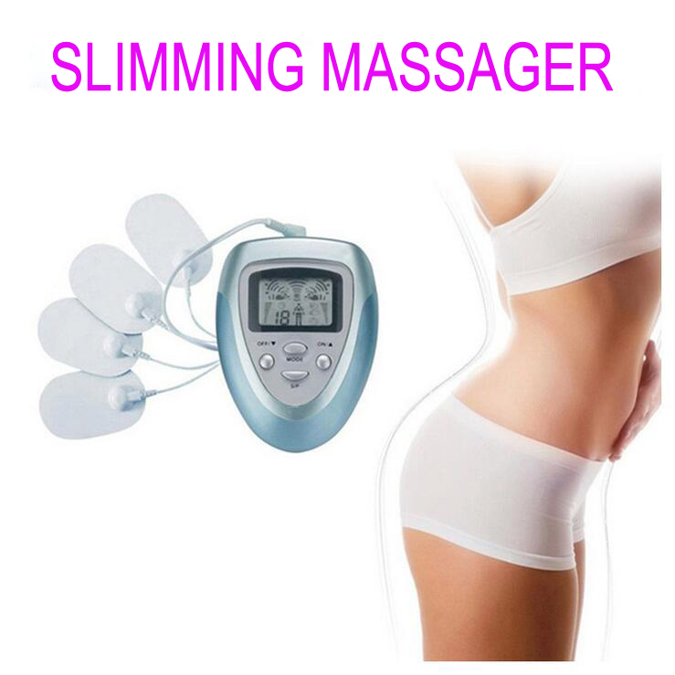 Electrical Stimulator Full Body Relax Muscle Therapy Massager Massage Pulse tens Acupuncture Health Care Slimming Machine 4 pads electric full slimming body massager vibrator fat reducing machine health care massage handheld relax spin tone massager women