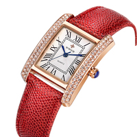 Small Women Watches Brand WWOOR Quartz Ladies Watch Women 2016 Leather Clock Waterproof Female Wristwatches Square