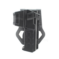 Tactical Movable Pistol Holsters For 1911 With Flashlight Or Laser Mounted Right Hand Waist Belt Gun