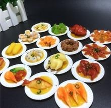 China Wind creative cute three-dimensional simulation food dish soft pvc fridge magnet free shipping