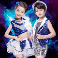 June 1 Children's Day Costumes Jazz Dancing Dress Kids Modern Dance Suit Kids Street Dancing Costume CheerLeader Dress  B-3087