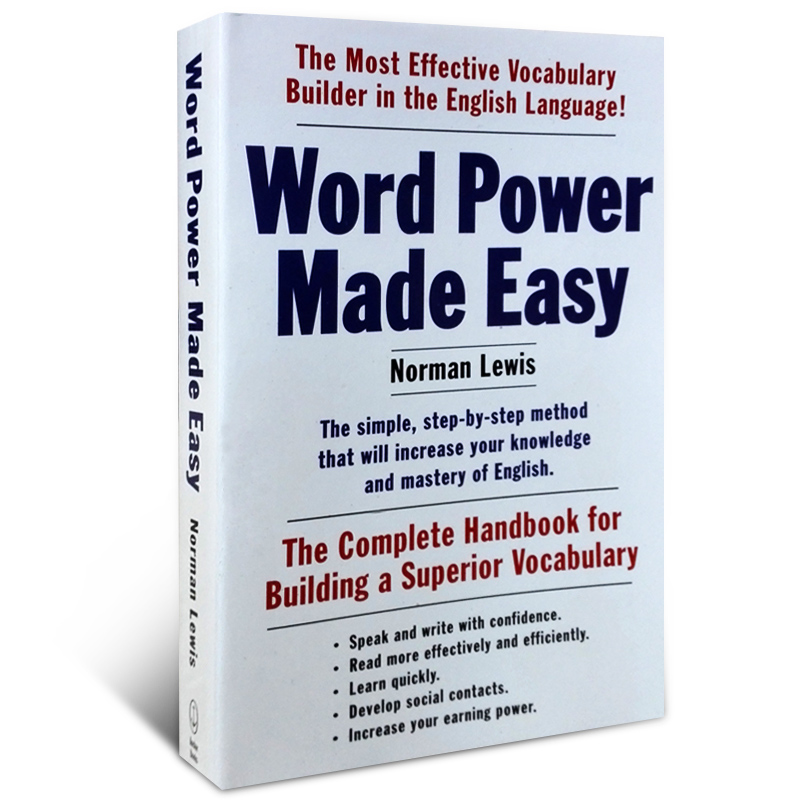 English original Word Power Made Easy learning vocabulary words force the latest version ...