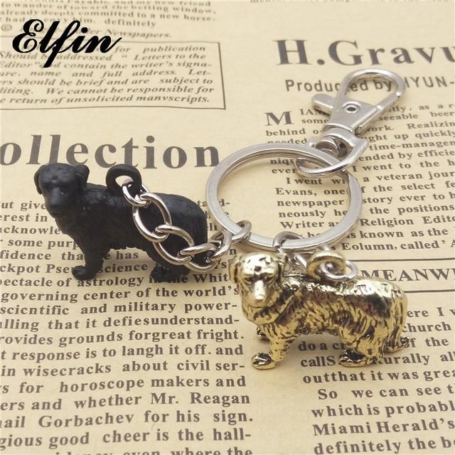 Elfin New 3D Vintage Retro Golden Retriever Dog Keychains Trendy Women Men  Golden Retriever Key Chains Keyrings Pet Jewellery 58f0d0264b