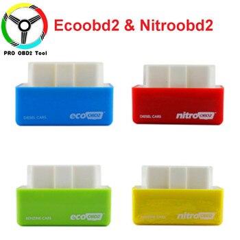 4 Colors Nitro OBD2 EcoOBD2 15% Fuel Save More Power ECU Chip Tuning Box Plug & Driver NitroOBD2 Eco OBD2 For Benzine Diesel Car thumbnail