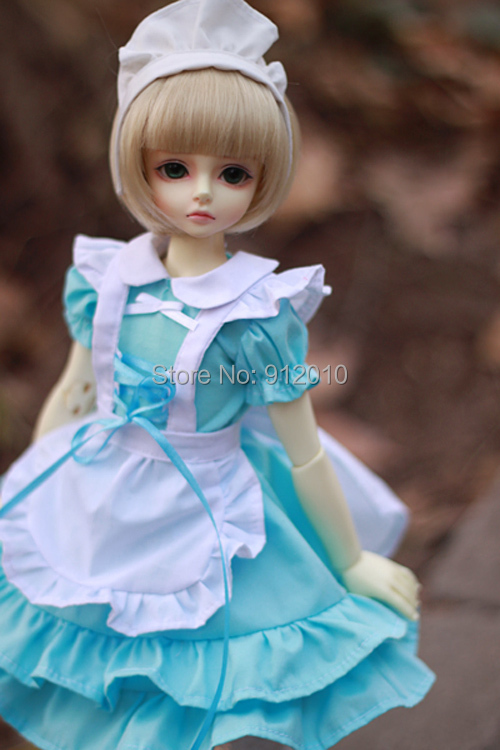 Sweetie BJD Maid Dress Outfit 3 colors  for BJD Doll 1/4 MSD Girl Luts, DOD,AS,DZ Doll Clothes Clothing CW36