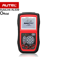 Autel AutoLink AL539 OBDII CAN Scan Tool AVO meter Check Engine Light (MIL), Retrieves generic, 10 modes OBD II test diagnosis
