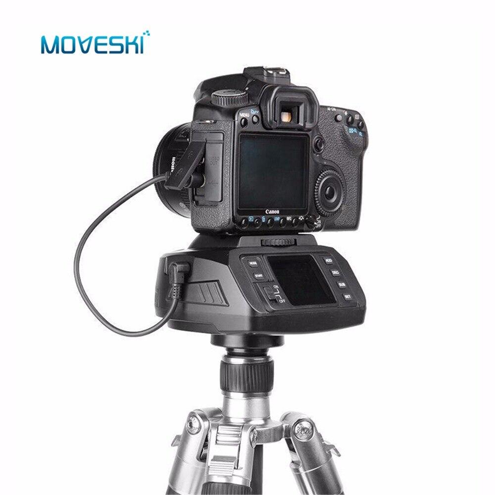 Moveski AD-10 Automatique Panoramique motorisé trépied tête Électronique Caméra 360 Degrés Motorisé rotule pour Canon Nikon Sony