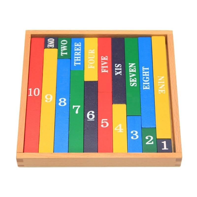 Děti Montessori Vzdělávací dřevěné hračky Barevné Malé - Učení a vzdělávání