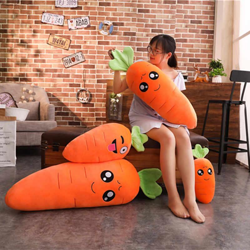 1 шт., 90 см-45 см, плюшевая игрушка для моделирования, набитая морковкой, набитая хлопком, очень мягкая подушка, креативный подарок для девочек