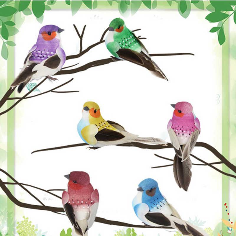 Mousse artificielle plume Simulation oiseau perroquet couleur aléatoire bricolage fête artisanat aimant décoratif colombes artificielle mousse plume
