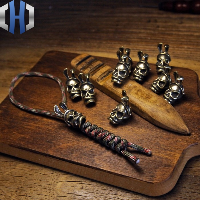 Brass DIY Accessories Skull Bunny Girl Knife Beads Pendant EDC
