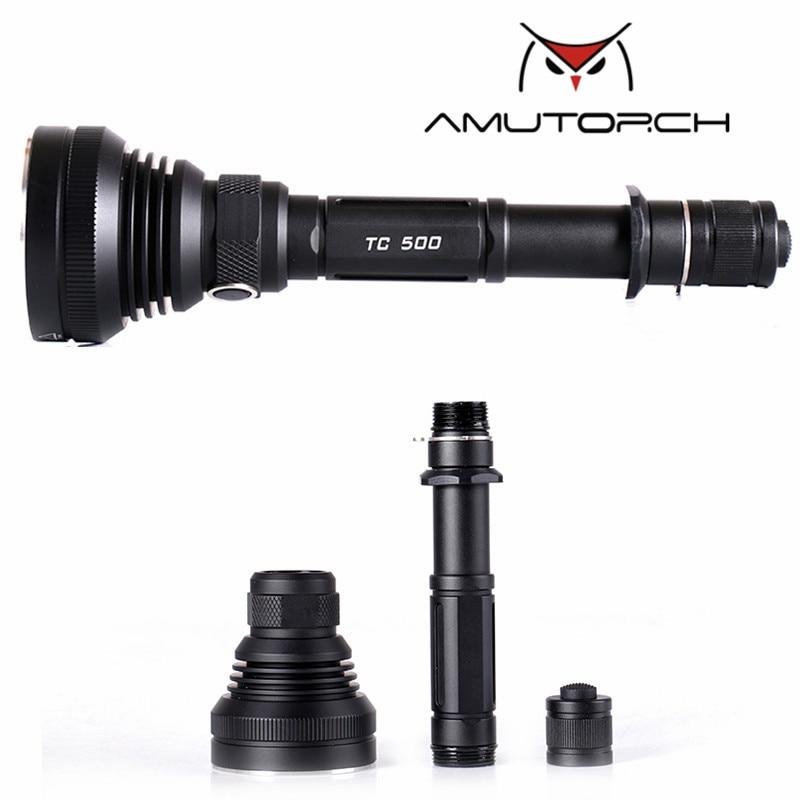 Amutorch TC500 CREE XM-L2 U4/XHP70/10w/30w 4000 lumens powerful LED flashlight 18650 flashlight фонарик epathchina 3 x 4000 30w cree xm l2 100 epa lef 089