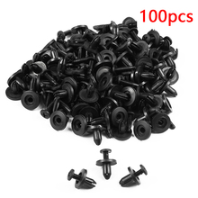 Dewtreetali 6mm 8mm Car Rivet Fastener Universal 50pcs/100pcs Plastic Car Door Bumper Fender Bumper Fixed Clip Car-styling (China)