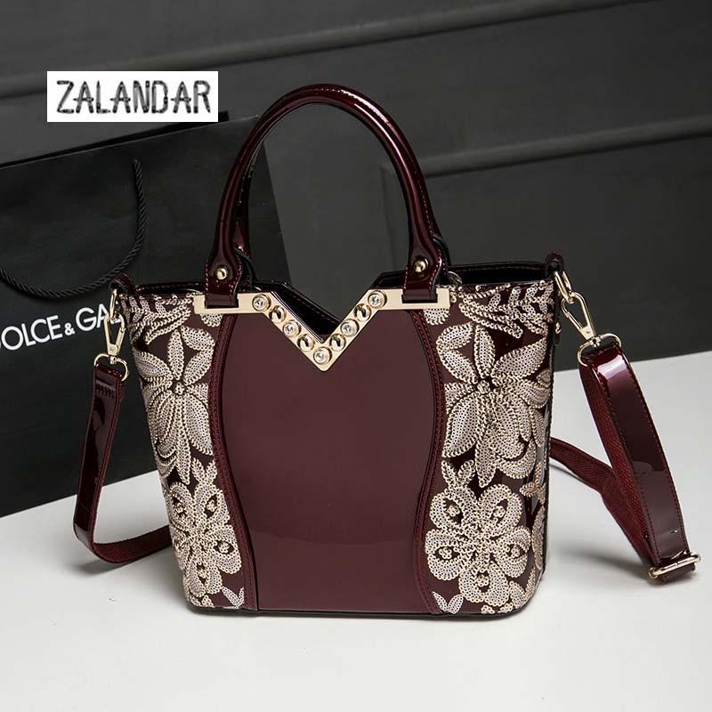ФОТО ZALANDAR Women Genuine Leather Handbag Women Crossbody bags Handbags Messenger bag shoulder woman Bag Luxurious Princess bag