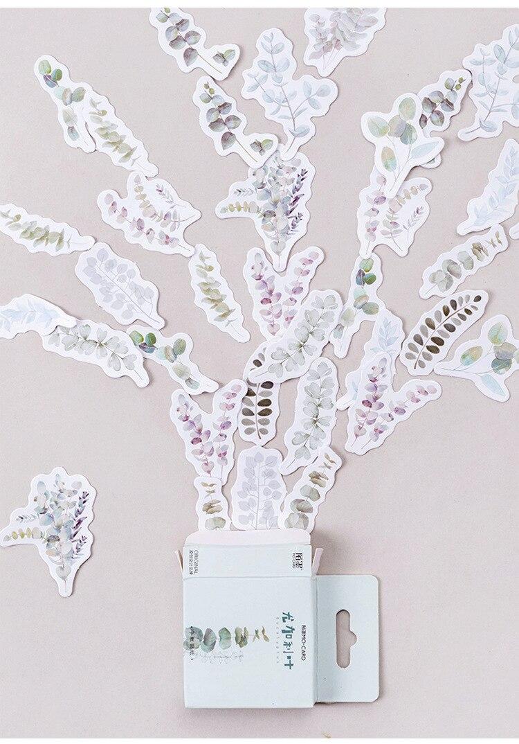 Купить с кэшбэком 45PCS/PACK Kawaii Cute Leaf Plant Sticker Marker Planner DIY Diary Decorate School Stickers Scrapbooking Bullet Journal sl1802