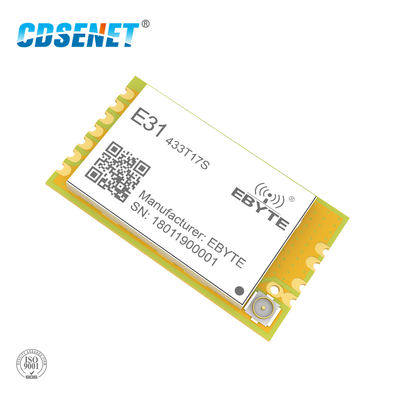 Радиочастотный передатчик и приемник AX5043, 433 МГц, CDSENET, беспроводной Радиочастотный Модуль UART, 433 МГц, SMD, TCXO, отверстие для печати IPEX