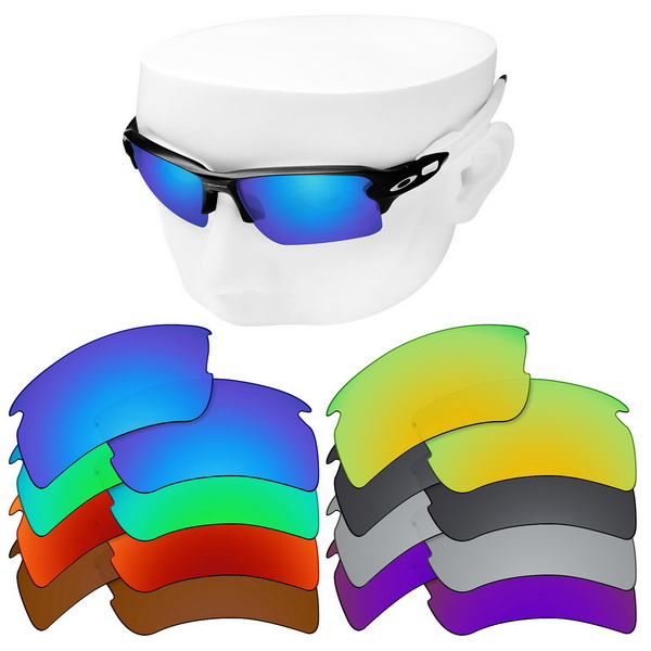 OOWLIT Polarized Replacement Lenses For-Oakley Flak 2.0 XL OO9188 Sunglasses