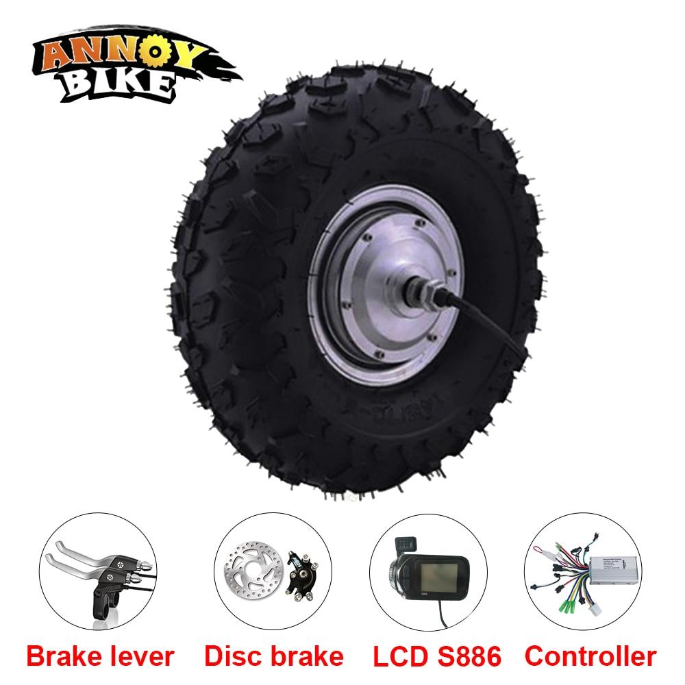 Schubkarre Motor 48 v 350 watt 500 watt 800 watt 14,5 zoll elektrische rad motor kruiwagen hub motor elektrische fahrrad roller motor kit