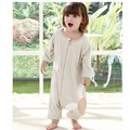 Cotton Sleeping Bags Warm Infant Romper Siamese Sleeping Bag Long Sleeve Clothes Boy Girl Outfit Spring Autumn Children Clothing
