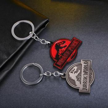 MS JEWELS Jurassic Park Key Chain Jurassic World Metal Key Rings For Chaveiro Keychains