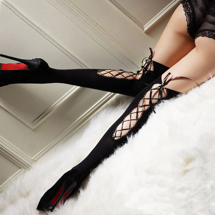 Women Sexy Gold Fishnet Stocking Thigh High Sheer Lace Top Sexy Stockings Hosiery Nets Stay Up For Women Female Stockings Black