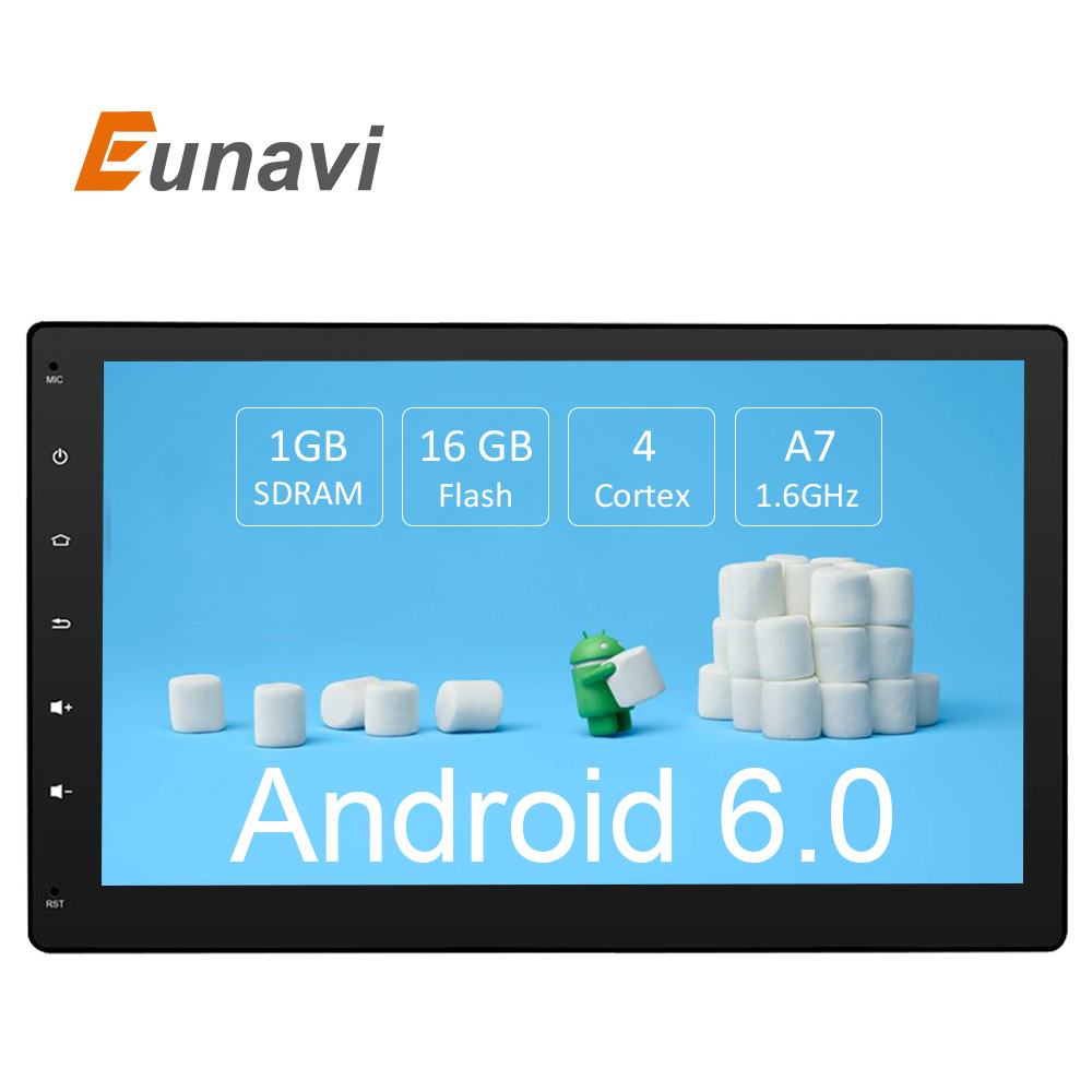 Eunavi 10.1 inch Android 6.0 3G Wifi Car DVD GPS Navigation 2 din Car Stereo Radio Car GPS Bluetooth USB/SD Universal Player автомобильный dvd плеер lg 2 din 7 android dvd gps 508 tv 3g wifi bluetooth rds mp3 aux usb sd