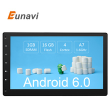 Eunavi 10.1 дюймов Android 6.0 3 Г Wifi Автомобилей радио GPS Навигации 2 din Автомобильный Стерео Радио Автомобильный GPS Bluetooth USB/SD Universal Player