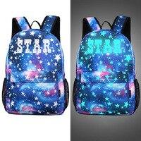 Men S Backpack Anime Starry Sky Luminous Printing Teenagers Casual Mochila Men Women S Backpack Student