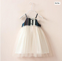 Y1742337 2017 Summer New Baby Girls Dress Lace Patchwork Suspendents Toddler Girl Dress Princess Dress Girls Clothes Baby Dress