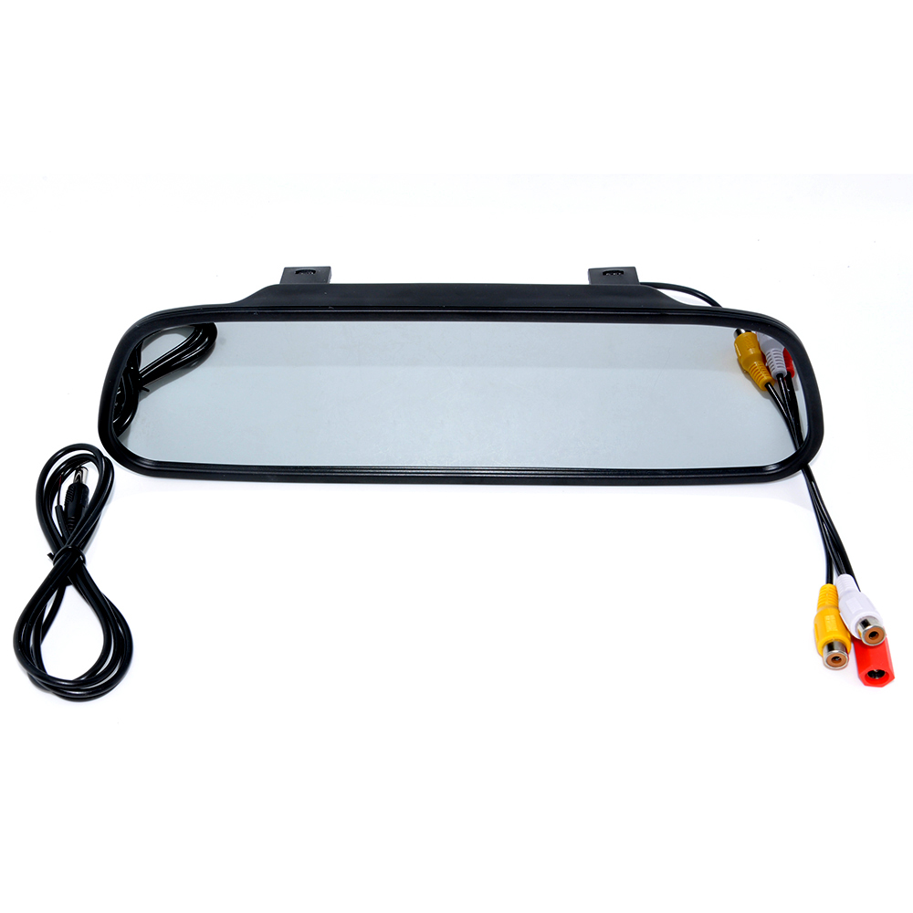 Car HD Video Auto Parking Monitor, LED Night Vision Reversing CCD Car Rear View Camera With 4.3 inch Car Rearview Mirror Monitor 16