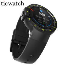Original Ticwatch S Smartwatch + Steel protection film Bluetooth 4.1 MTK2601 Android Wear 2.0 for iOS/Android IP67 Waterproof