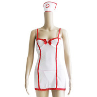 Volwassen WomenSexy Verpleegkundige Verpleegster Kostuum 2 stks Halloween Verpleegkundige Wit en Rood Arts Cosplay Rollenspel Fancy Dress Vrijgezellenfeest W292927
