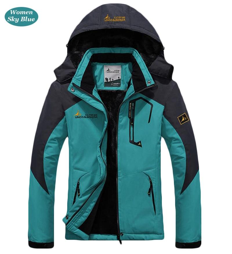 UNCO&BOROR winter jackets men women`s outwear fleece thick warm cotton down coat waterproof windproof parka men brand clothing 22