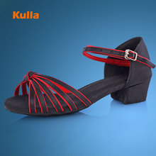 Women's Ballroom Dancing Shoes For Girls Low Heel Latin Dance Shoes Children Tango Salsa Dance Shoes Sandalias De Baile Salsa