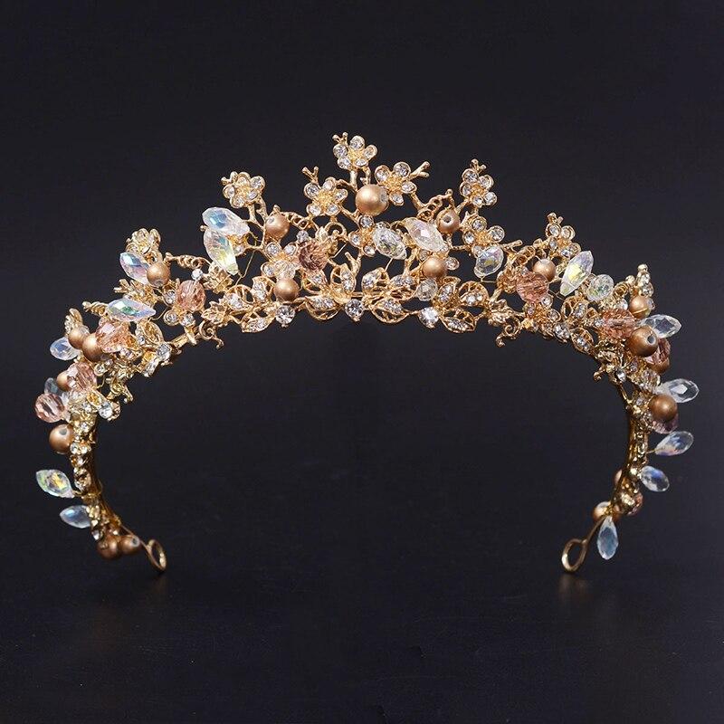 2016 Nueva Moda Magnífico Silver Crystal Tiaras de Novia con la Flor de La Corona de