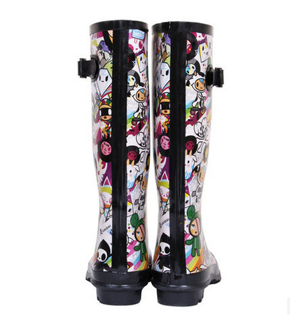 Aliexpress.com : Buy Fashion Women High Rain Boots Printed Cartoon ...