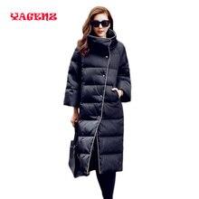 Women's Winter Parkas Long Parka Coat Fashion Warm Outwear down jacket Thick Padded Coats Black Women Jackets Female down jacket