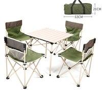 2018 открытый складной стол стул Кемпинг Алюминиевый сплав стол для пикника Непромокаемая ткань оксфорд прочный складной стол для