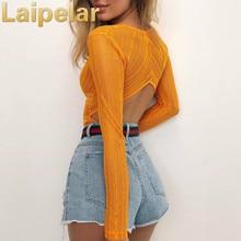 Laipelar Deep V neck Lace Mesh Crochet Bodysuit Women Slim Fit Romper Jumpsuit Sexy High Street Bodysuits Tops for Clothes