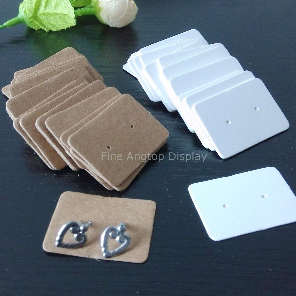 support carton boucle d'oreille