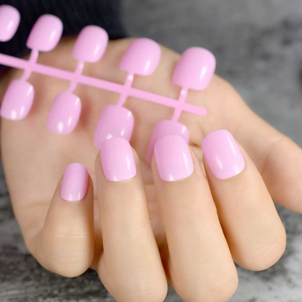 Fashion for Children Nail Art Tips Pink Short Candy ...