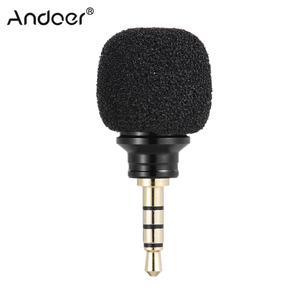 Image 1 - Andoer الهاتف المحمول الذكي المحمولة ميكرفون صغير متعدد الاتجاهات ميكروفون لتسجيل لباد أبل iPhone5 6s 6 Plus